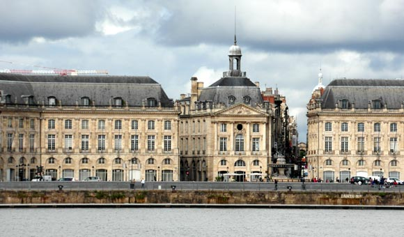 The riverfront at Bordeaux
