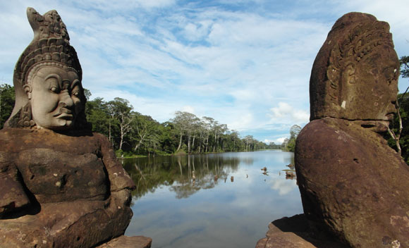 The causeway to Bayon, Angkor Thom