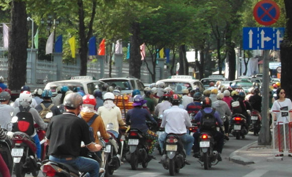 Motor bikes in Ho Chi Minh City