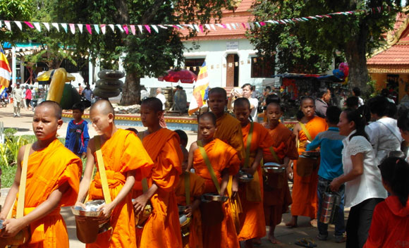 Monks festival procession