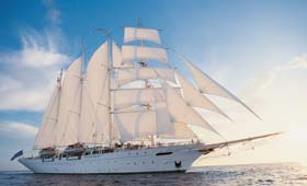 Enjoy a sailing cruise with Star Clippers