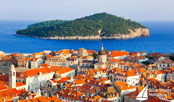 The orange roofs of Dubrovnik