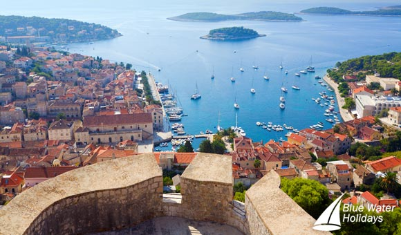 View of Hvar from its impressive citadel