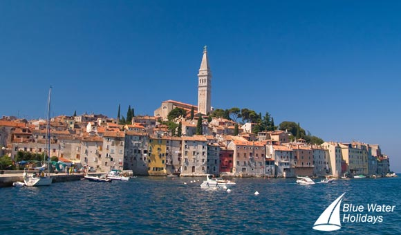 See the impressive Bell Tower of St Euphemia in Rovinj