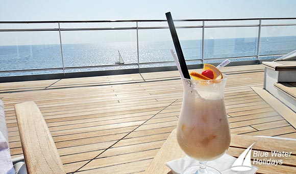 Enjoy a cocktail on deck