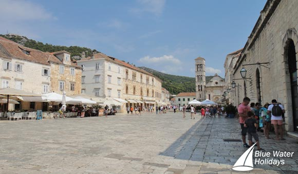 Stroll around Hvar Square and see St Stephen's Cathedral