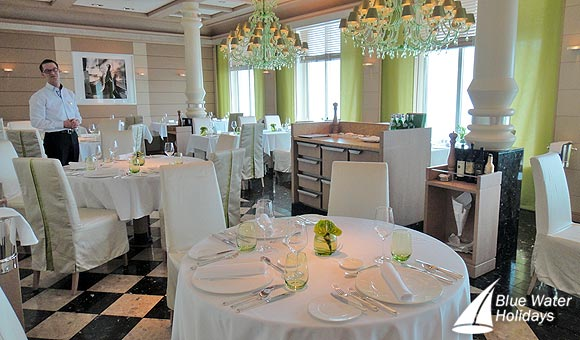 Enjoy Italian cuisine in the Serenissima Restaurant