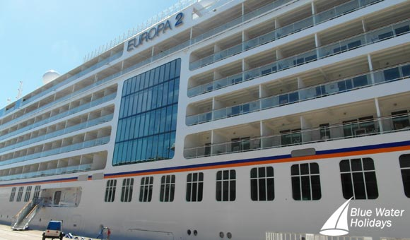 Europa 2 has 516 passengers with superb space per guest