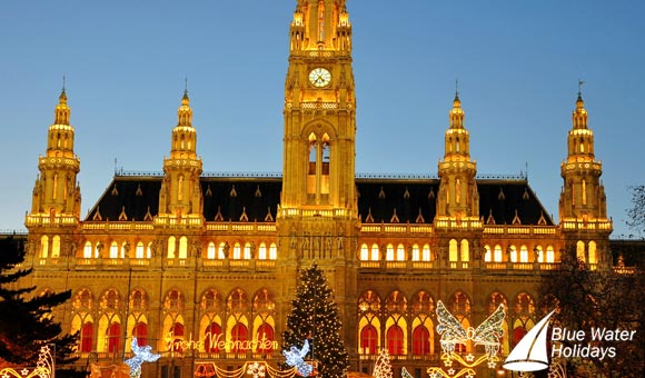 Explore Vienna's magical Christmas market in front of the City Hall
