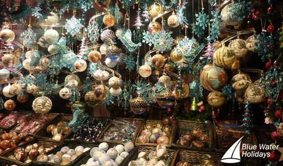 Buy souvenirs at the bustling Christmas markets