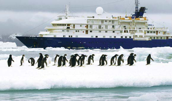 Explore sights ashore on an Antarctic expedition