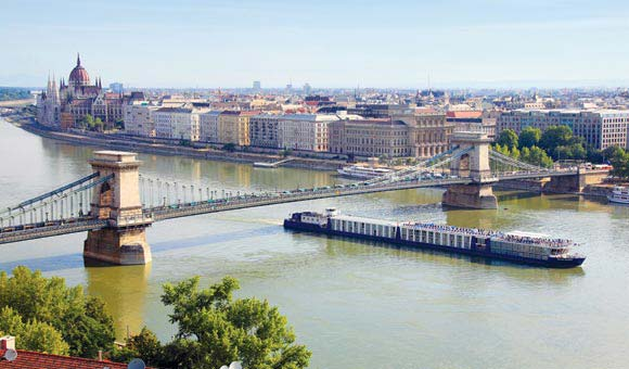 Follow the River Danube and sail through Budapest