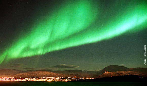 Search for the Northern Lights on a winter Arctic cruise