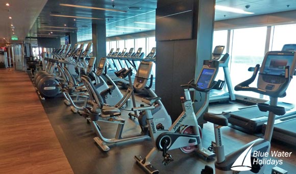Excellent gym facilities on board
