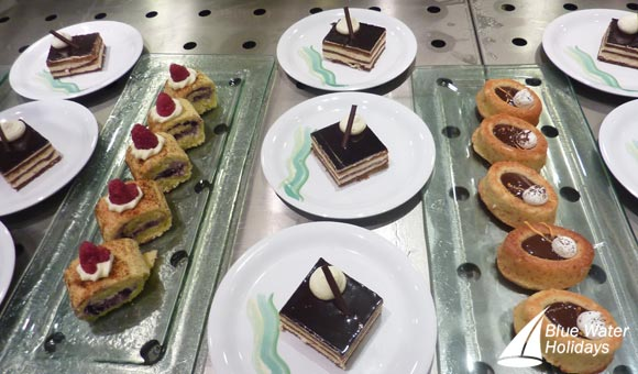 Enjoy the delicious cakes the Pastry Shop