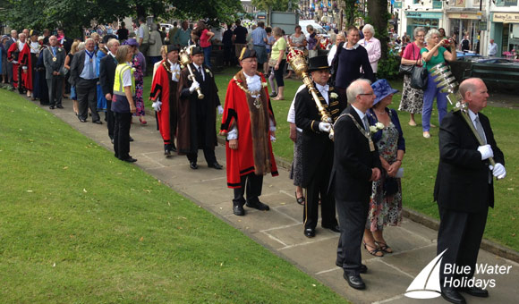 The mayors and dignitaries enjoyed a civic service at Holy Trinity Church