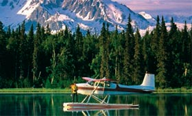 Float planes operate like buses in Alaska