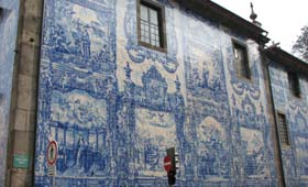 A tiled building in Porto