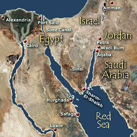 Red Sea Cruises In Egypt And Jordan Cruising Holidays - Detailed map of egypt and jordan