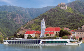 AMA-APT river cruise ship at Durnstein