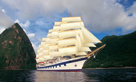 Royal Clipper in St Lucia