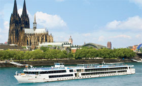 Viking Legend on the River Rhine at Cologne