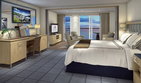 Luxurious cabin on Viking Star
