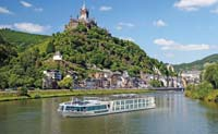 Scenic ship on the Rhine