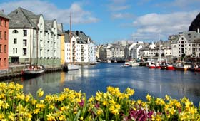 Alesund in the spring