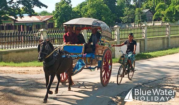 Enjoy a horse drawn cart tour of Inwa