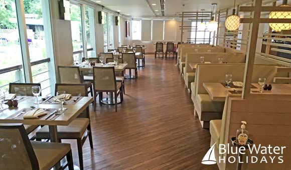 Spacious restaurant on Princess Panhwar