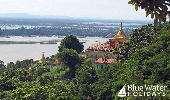 View of the Irrawaddy River from Sagaing