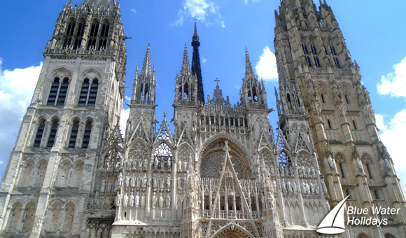 The impressive Rouen Cathedral