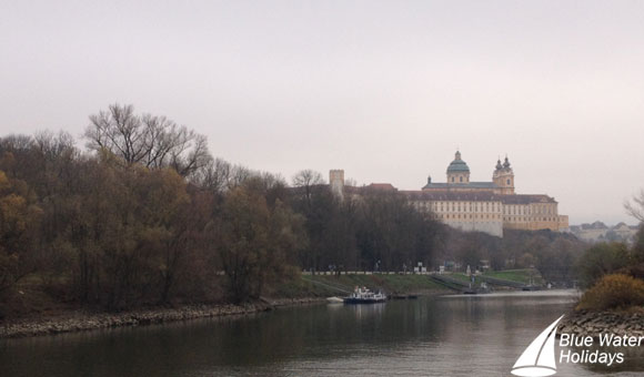 Melk Abbey from the River Danube