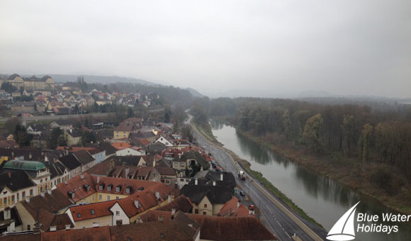 View from Melk Abbey over Melk