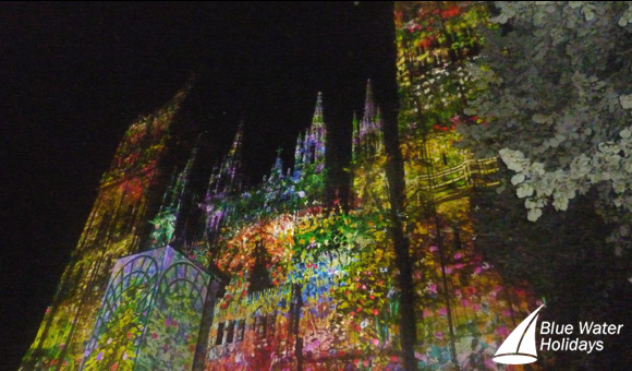 Light Display on Rouen Cathedral