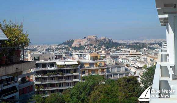View of the Acropolis from the St George Lycebettus Hotel