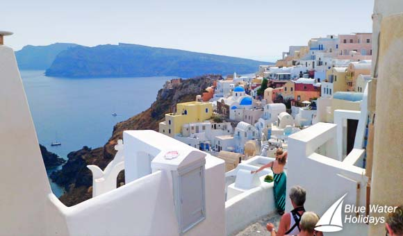 Enjoy breathtaking views from Santorini