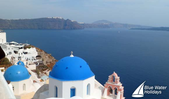 Blue domed churches of Oia
