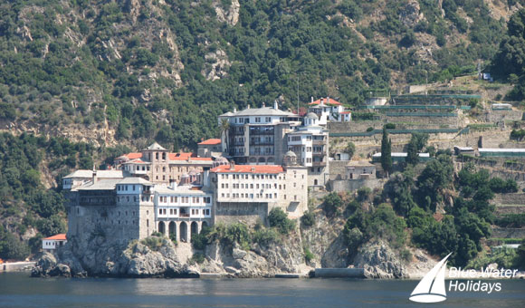 Dramatic cliff-top monasteries of Mount Athos