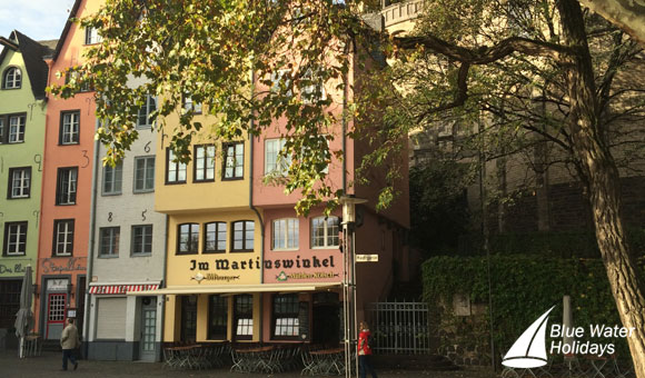 Colourful houses in Cologne