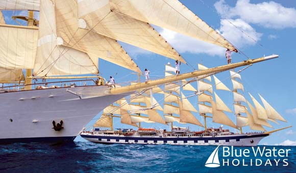Experience the romance of a voyage under full sail on a graceful Star Clippers cruise