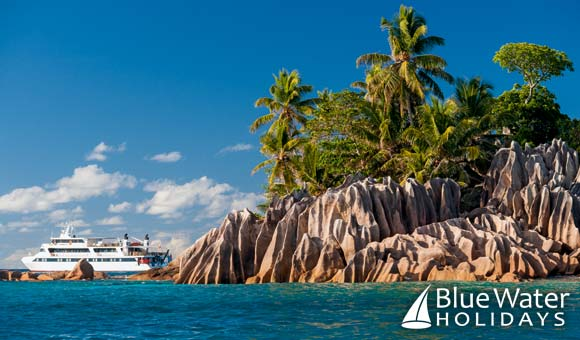 Enjoy an island-hopping cruise around the Seychelles