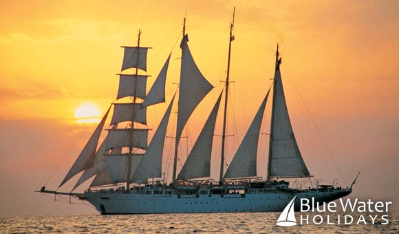Enjoy an authentic voyage under full sail