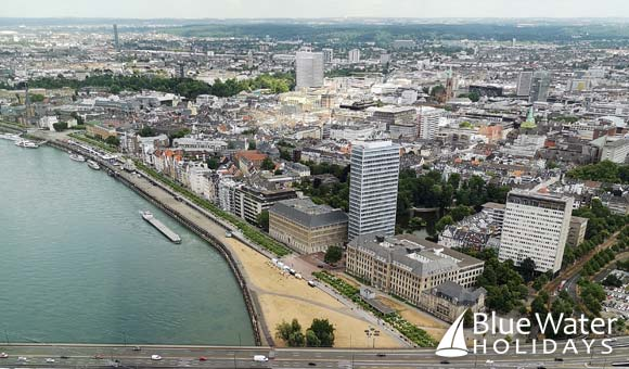 Birds-eye view of Dusseldorf