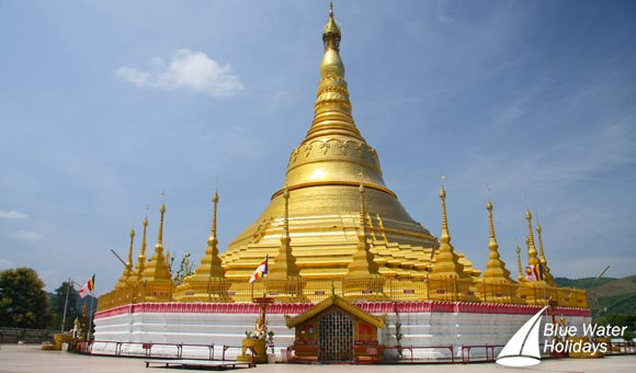 Spectacular pagoda in Burma, now Myanmar