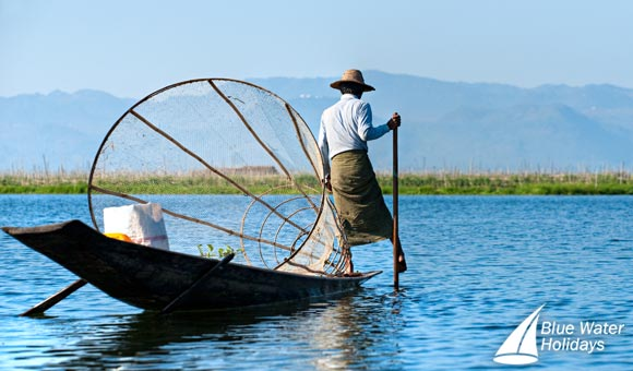 Fisherman in Burma, now Myanmar