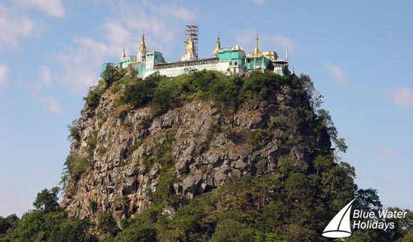 Visit the impressive Mount Popa Monastery near Bagan