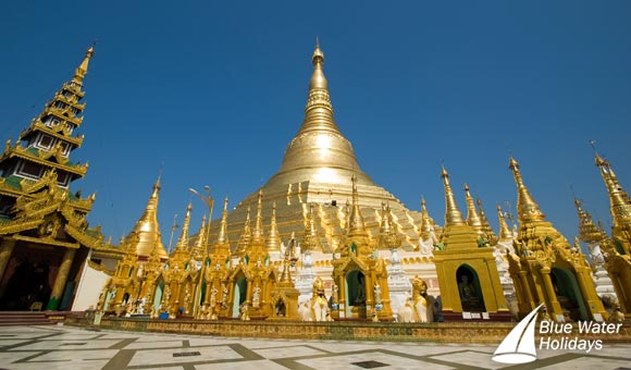 See the spectacular Shwedagon Pagoda in Yangon