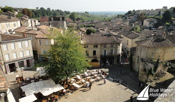 From Libourne, visit the famous wine growing area of Saint Emilion